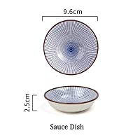 NIMITIME Japanese Style Ceramic Porcelain Rice BowlSoup Bowl Fish Plate Sushi Dinner Plate Dish Tableware