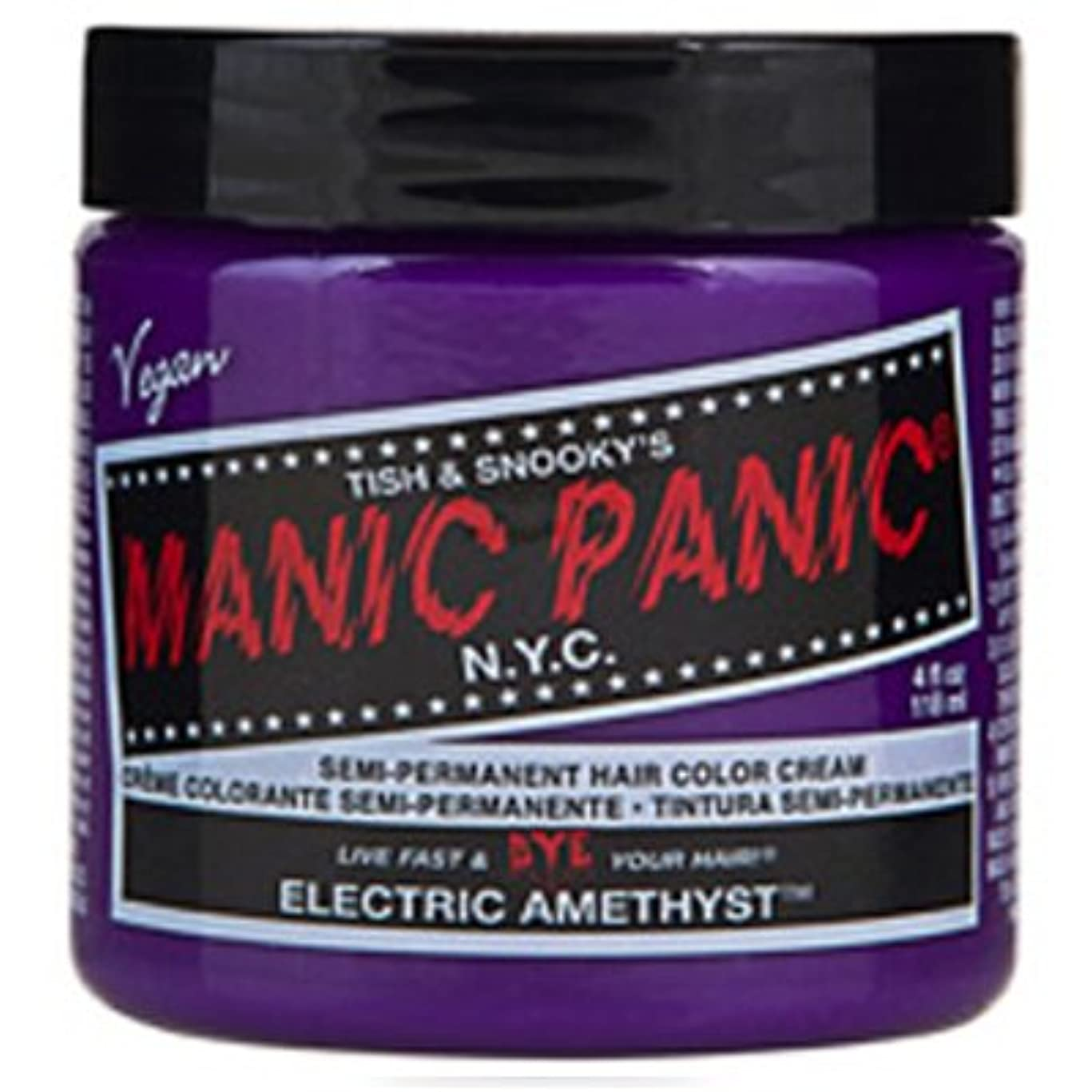 他のバンドで精神的にエステートManic Panic クラシックヘアカラーエレクトリックアメジスト 象牙