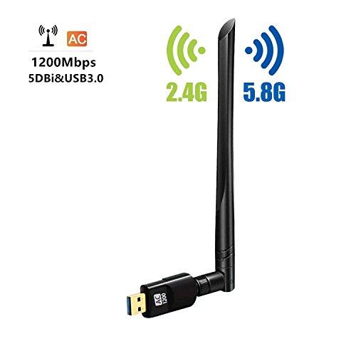 Zenoplige wifi 無線lan 子機 5dBi デュアルバンド ハイパワー アンテナ 1200Mbps USB 3.0 高速モデル 802....