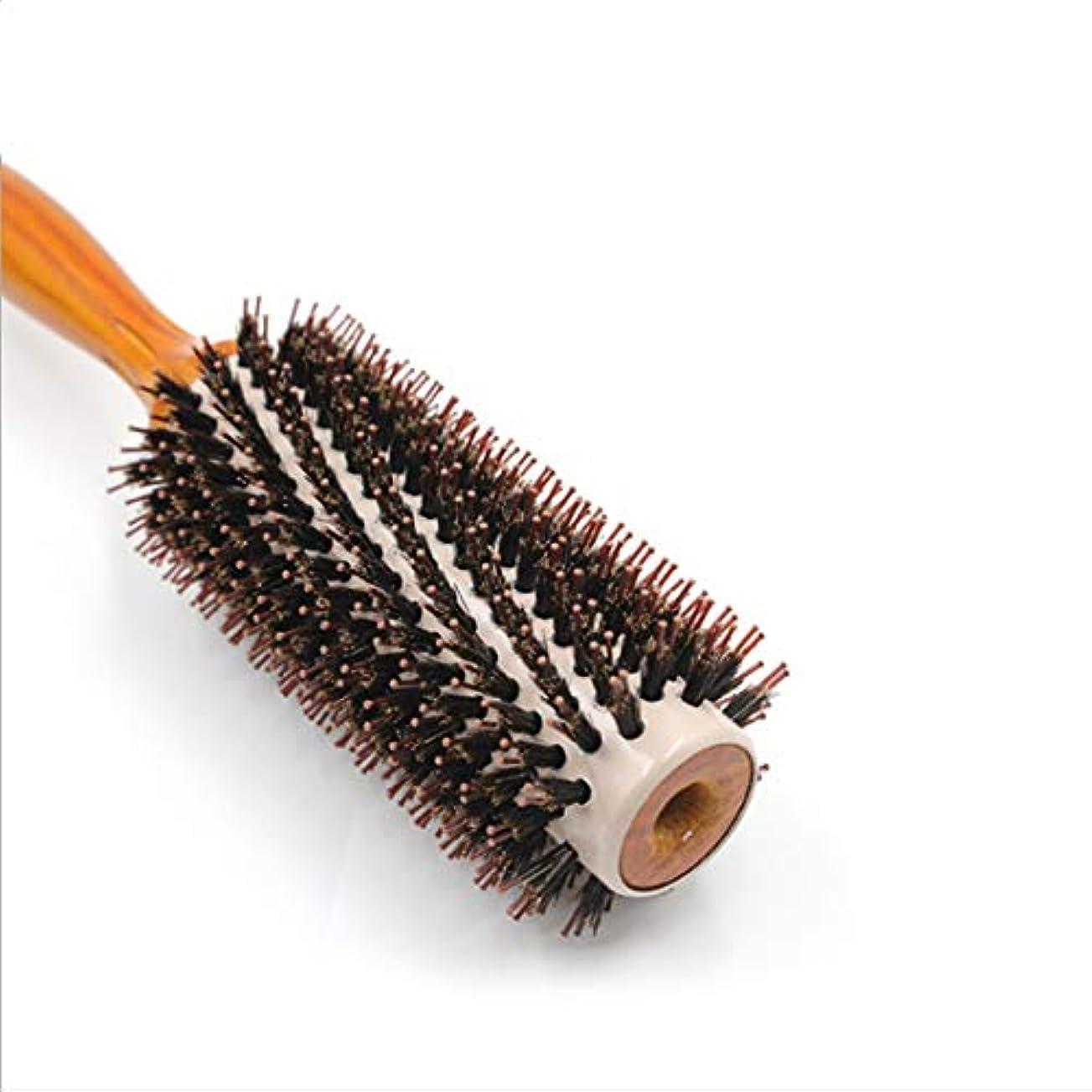 ペルメル無駄ペレットGuomao 25.3cmラウンドスタイリングヘアブラシ-女性のための大きな花くし (サイズ : L)