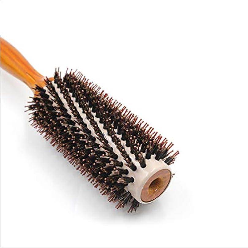 解明十二ストレンジャーGuomao 25.3cmラウンドスタイリングヘアブラシ-女性のための大きな花くし (サイズ : L)