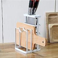 金属製キッチンナイフ乾燥ラック まな板収納オーガナイザー カウンターディスプレイスタンド
