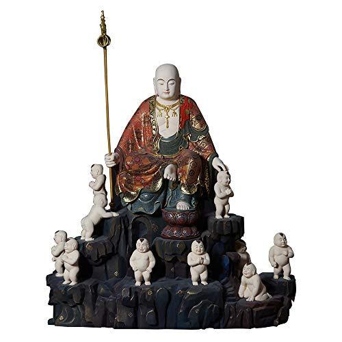 【仏像】水子地蔵菩薩(子安地蔵菩薩)(総高63cm幅55cm奥行25cm) 木彫り仏像