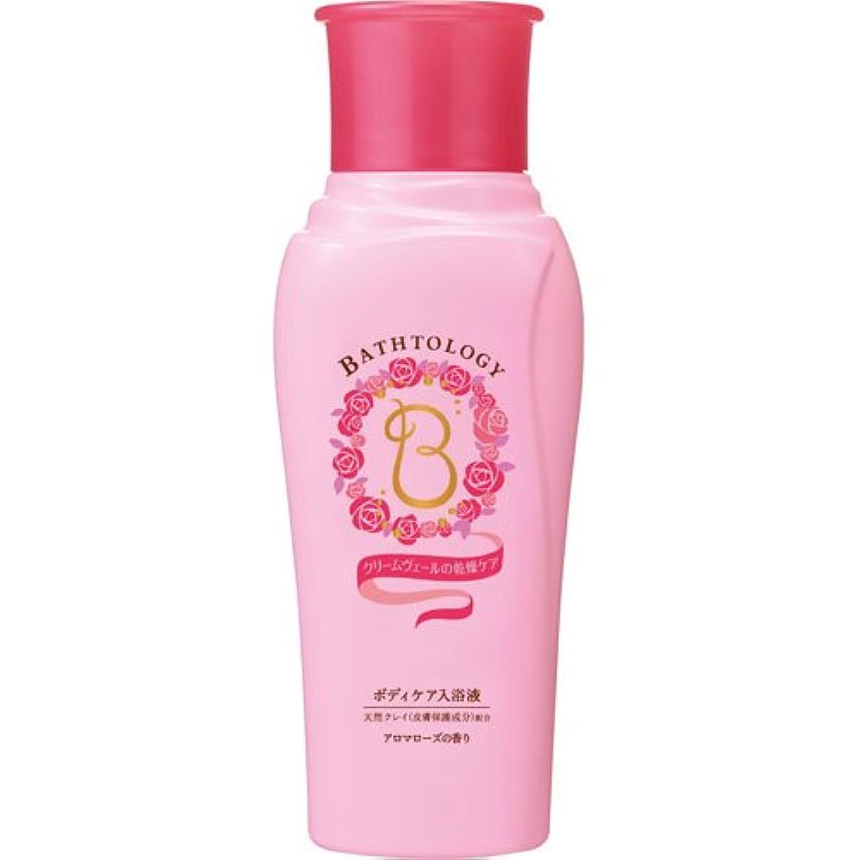 変換ドロップ下るBATHTOLOGY ボディケア入浴液 アロマローズの香り 本体 450mL