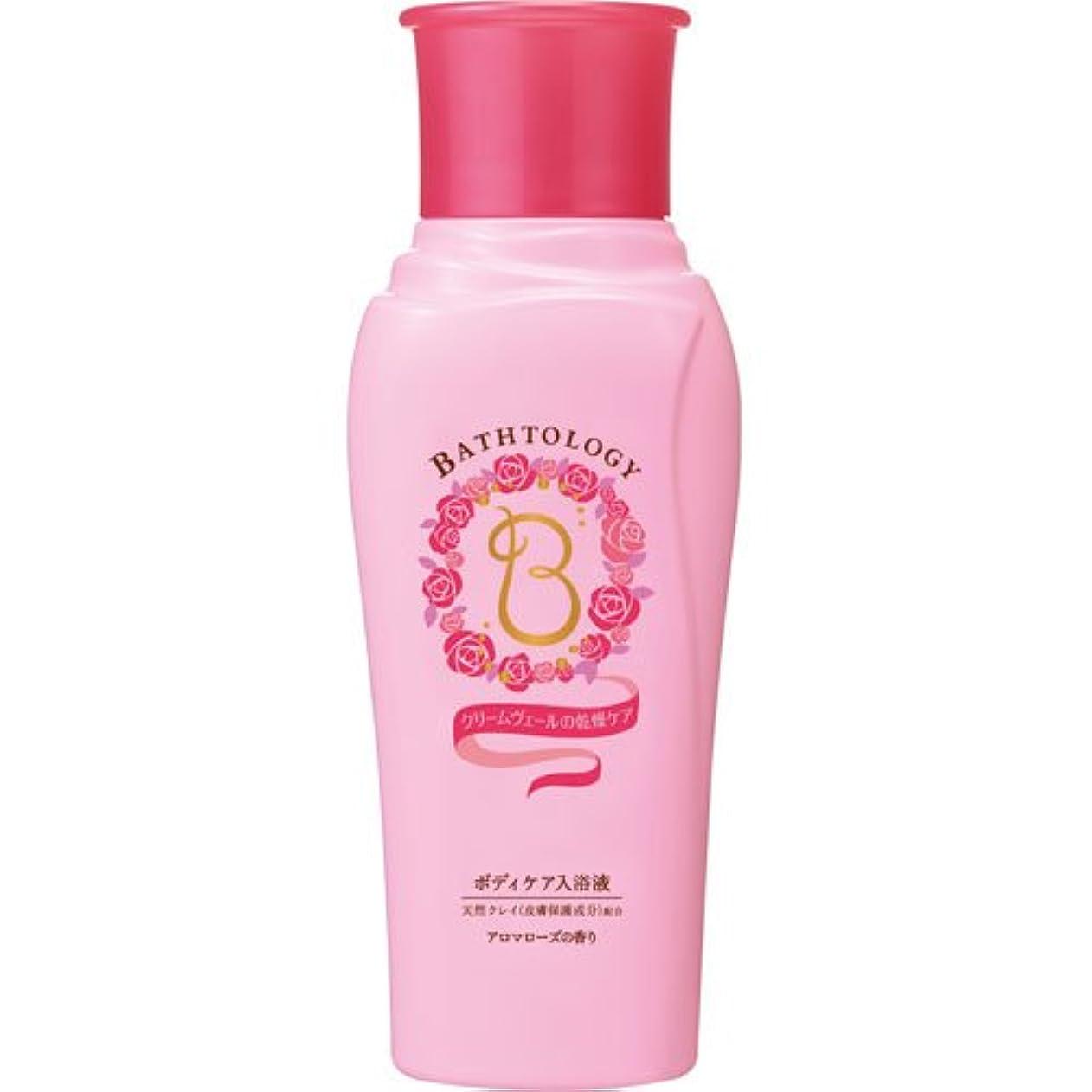 はっきりと脳最小BATHTOLOGY ボディケア入浴液 アロマローズの香り 本体 450mL