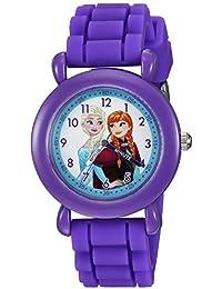 ディズニーGirl 's ' Frozen ' QuartzプラスチックとシリコンCasual Watch , Color :パープル(モデル: wds000004 )
