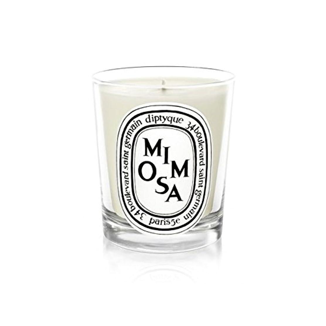 タービンワーム光のDiptyque Candle Mimosa / Mimosa 190g (Pack of 2) - Diptyqueキャンドルミモザ/ミモザ190グラム (x2) [並行輸入品]