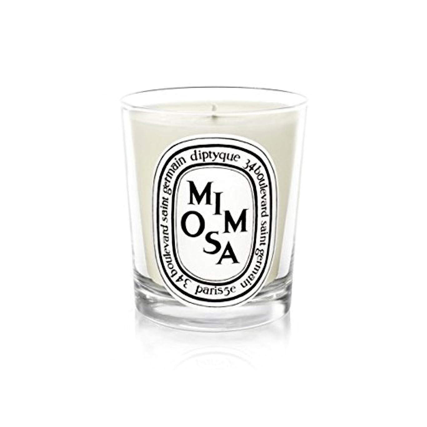 敬な展開する公使館Diptyque Candle Mimosa / Mimosa 190g (Pack of 2) - Diptyqueキャンドルミモザ/ミモザ190グラム (x2) [並行輸入品]