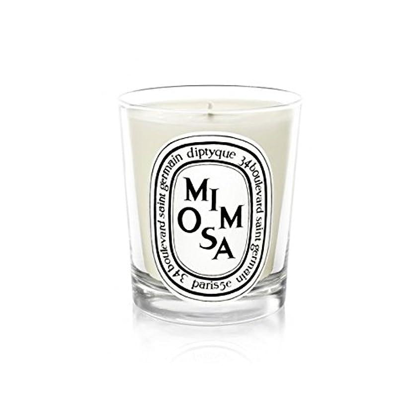 密接に誓約脚Diptyque Candle Mimosa / Mimosa 190g (Pack of 2) - Diptyqueキャンドルミモザ/ミモザ190グラム (x2) [並行輸入品]