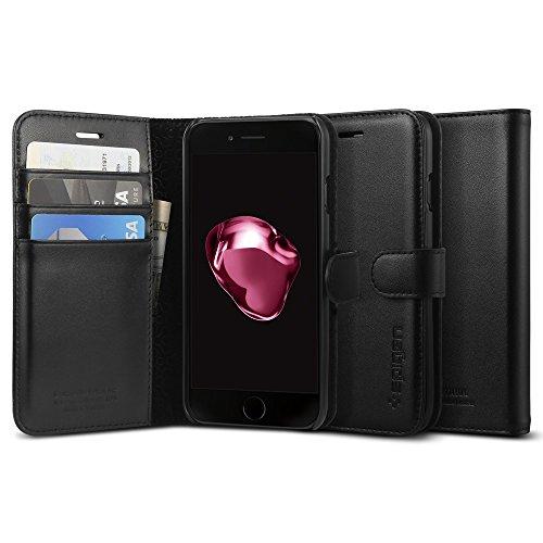 【Spigen】 iPhone7ケース, 本革ケース ヴァレン...