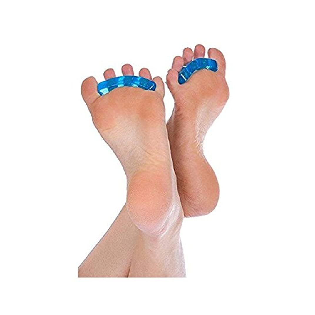 雨の再撮り定説爪デバイダSEBS指の爪セパレータパッド分離パッドネイル特別な分離ネイルツール6ペア