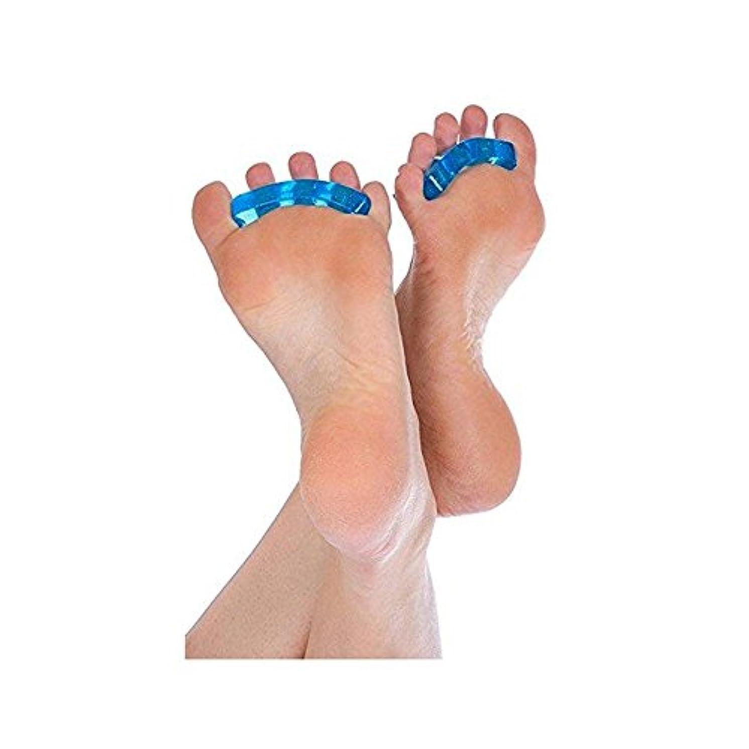 含める宝いちゃつく爪デバイダSEBS指の爪セパレータパッド分離パッドネイル特別な分離ネイルツール6ペア