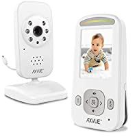 Video Baby Monitor with Night Vision Camera and Slim-Designed Screen by Axvue, Model E600 141[並行輸入]
