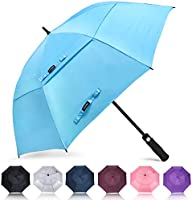 ZOMAKE Automatic Open Golf Umbrella 62/68 inch - Large Rain Umbrella Oversize Windproof Umbrella Double Canopy for Everyone