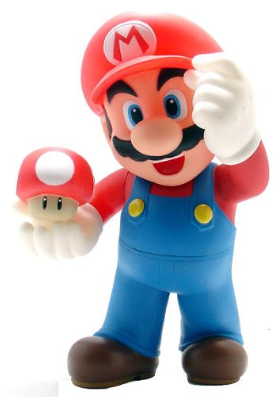 Super Mario スーパーマリオ Brothers: Desktop Sofbi Series Mario 12-inch アクションフィギュア 人形 おもちゃ (並行輸入)