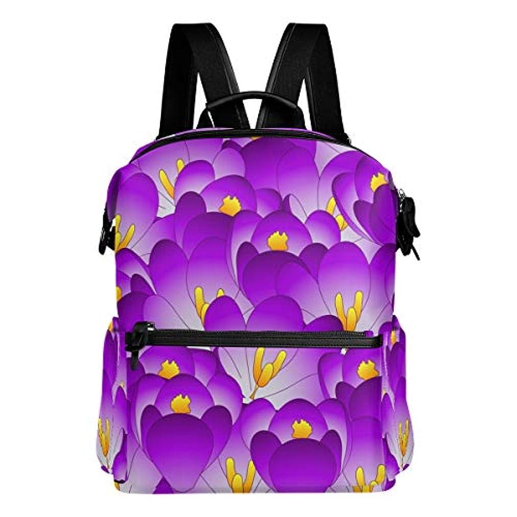 スリル貢献するパーセントVAWA リュック レディース 大容量 おしゃれ 花柄 和柄 和風 紫色 リュックサック 軽量 防水 多機能 バッグ 通勤 通学 旅行用