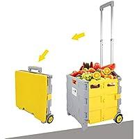 ショッピングカート ハンドカート、折り畳みショッピングカートホームポータブルトロリー車ショッピングカート荷物カート引き出しカートトロリー、3サイズ (サイズ さいず : 38 * 33 * 95cm)