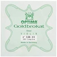 ゴールドブラカット バイオリンE線0.26ループエンド(6本セット)