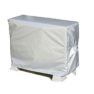 アストロ エアコン室外機カバー はっ水加工 シルバー 雨・風・雪・ホコリ・ドロ汚れなどから室外機をガードします! 113-09