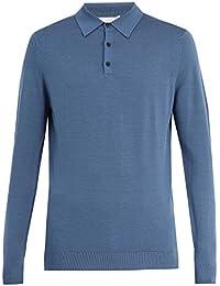 (サンスペル) Sunspel メンズ トップス ポロシャツ Half-button wool-knit polo shirt [並行輸入品]