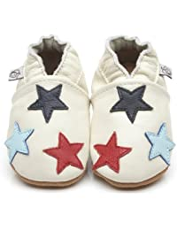 Soft Leather Baby Shoes Little Stars Cream [ソフトレザーベビーシューズリトルスタークリーム] 12-18 months (13.5 cm)