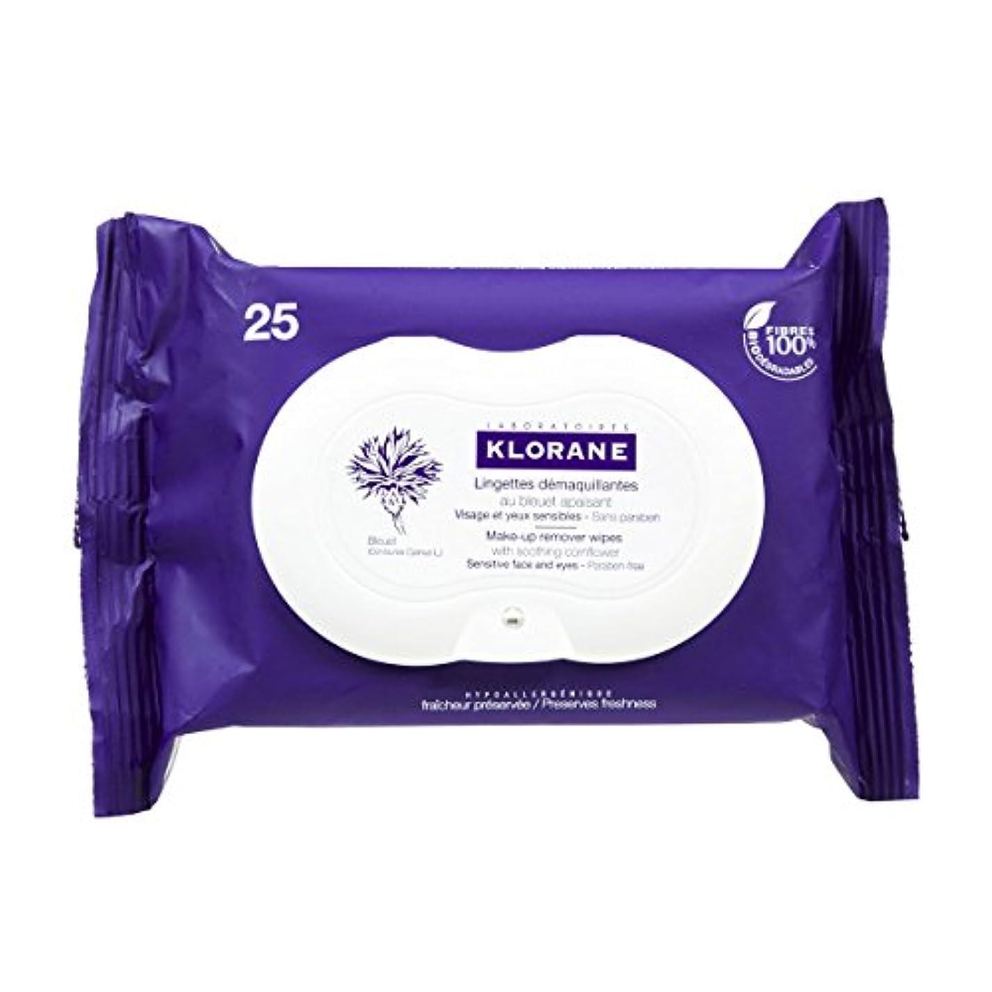 環境保護主義者ペルメル集めるKlorane Floral Wipes Cleansers Eyes 25 Wipes [並行輸入品]