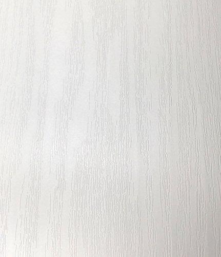 簡単 模様替え 壁紙 貼付シールタイプ 45cm×10m ウォールステッカー 防水 【貼り方説明書付】 (木目白)