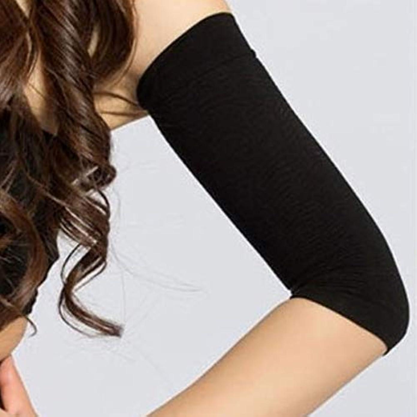 メッシュ見落とす入場料1ペア420 d圧縮痩身アームスリーブワークアウトトーニングバーンセルライトシェイパー脂肪燃焼袖用女性