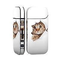 スマコレ IQOS 2.4 Plus 専用 シール 全面 ケース おしゃれ 全面ケース 保護 ステッカー デコ アクセサリー デザイン アニマル 猫 動物 写真 002783