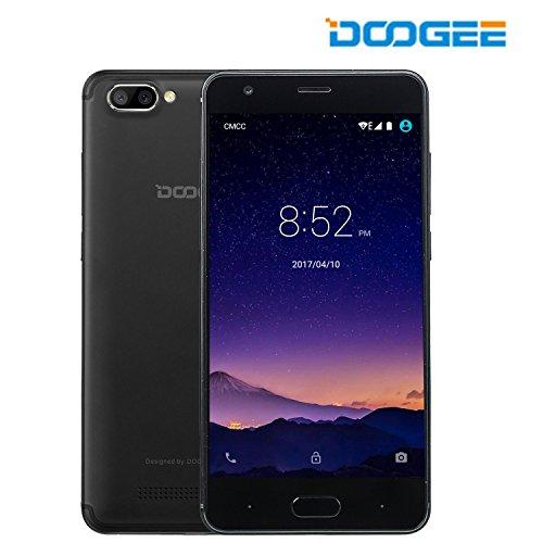 SIMフリースマートフォン, DOOGEE X20L (4G(au不可) Android 7.0 2+16GB ROM MT6737 クアッドコア デュアル SIMフリー 5MP+5MP リアカメラ Micro+Nano SIM)スマートフォン本体黒 【一年保証】