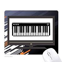 電気ピアノ音楽の活力の音 ノンスリップラバーマウスパッドはコンピュータゲームのオフィス