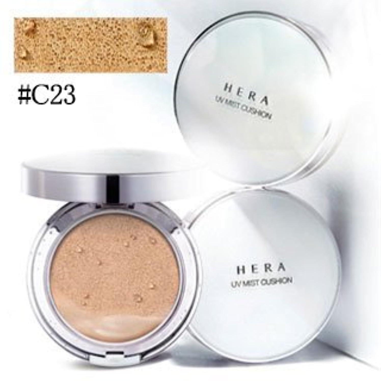 砂贅沢な間接的ヘラ(HERA) UV ミスト クッション #C23 COOL BEIGE COVER SPF 50+ / PA+++ 15g x 2[並行輸入品]