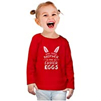 Trade Brother for Easter Eggs Funny Siblings Toddler Girls Fitted Long Sleeve T-Shirt
