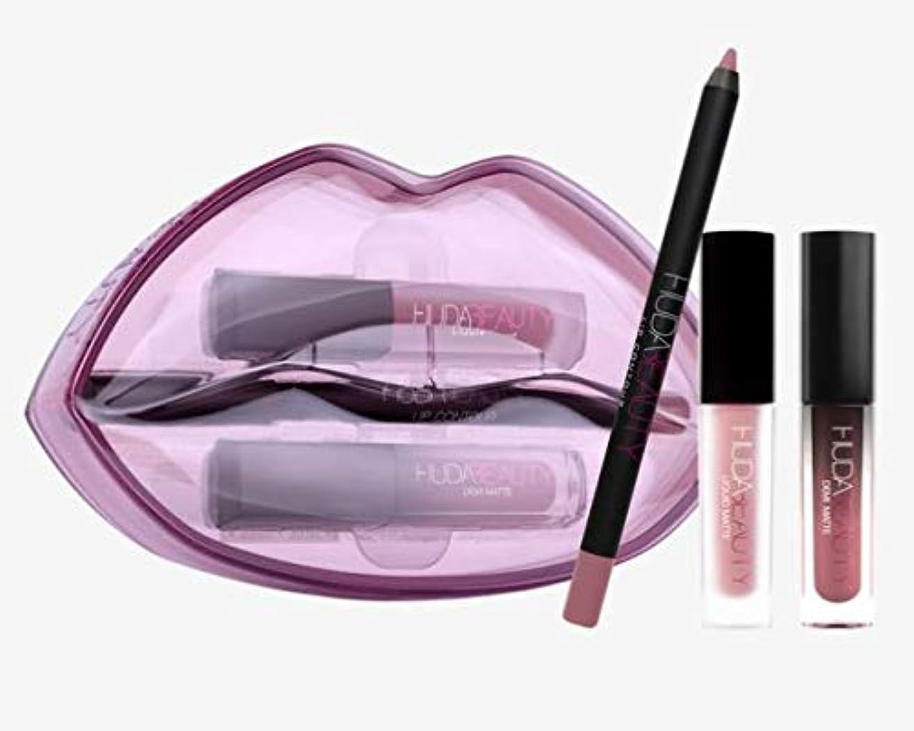 代表する手足生産的Hudabeauty Matte & Cream Lip Set Provocateur & Muse リップセット マットリップ