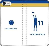 iPhone/Xperia/Galaxy/他機種選択可:バスケ/シルエット手帳ケース(フルカラー/ホーム/ゴールデンステイト:11番_A) 05 iPhone7