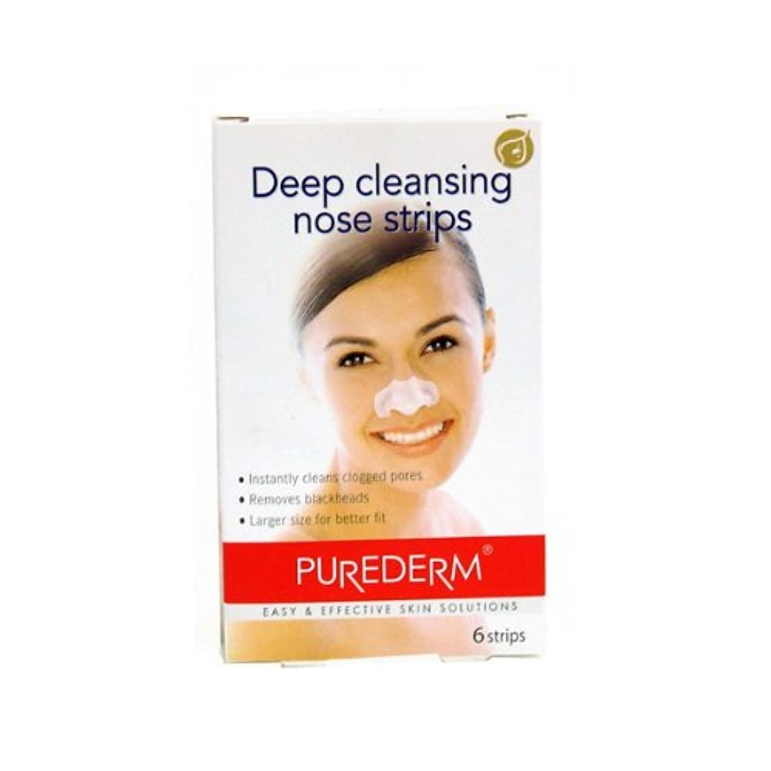傑出した荷物日Purederm Deep Cleansing Nose Strips X 6 [並行輸入品]