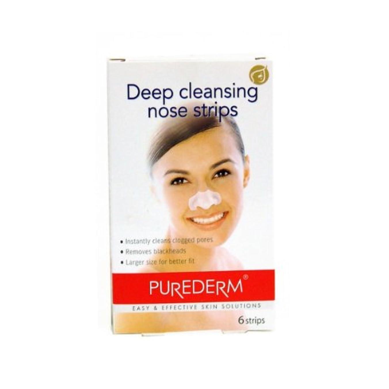 傾向不快シロナガスクジラPurederm Deep Cleansing Nose Strips X 6 [並行輸入品]