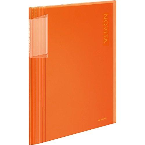 コクヨ ファイル クリアファイル ノビータ A4 40枚 オレンジ ラ-N40YR