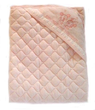 アフガン おくるみ 肌掛け ひざ掛け パイル キルティング 中綿入り 新生児 日本製 ベビー用品 出産祝い ギフト (ピンク)