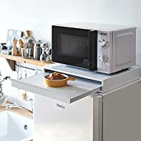 キッチンスライドテーブル (幅45×奥40) レンジ台 スライドテーブル 電子レンジ スライド式テーブル キッチン収納…