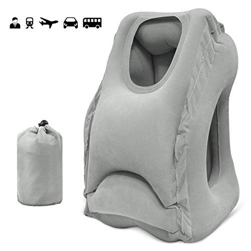 Vkaiy トラベルピロー エアーピロー 空気枕携帯枕 折り畳み式 旅行用飛行機 オフィス 自宅 持ち運び枕 収納