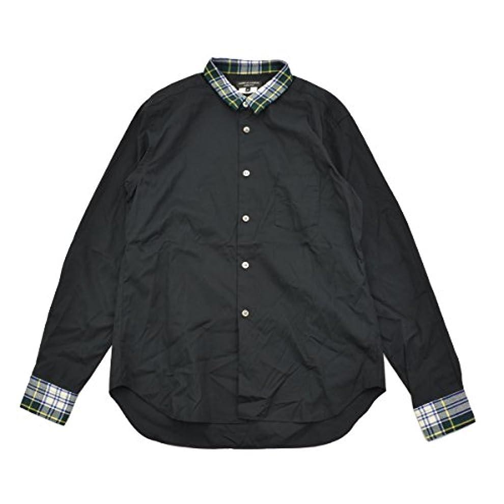 デザート応援するエンコミウム(コムデギャルソンオムプリュス) COMME des GARCONS HOMME PLUS AD2011 ウールチェック柄切替 長袖シャツ