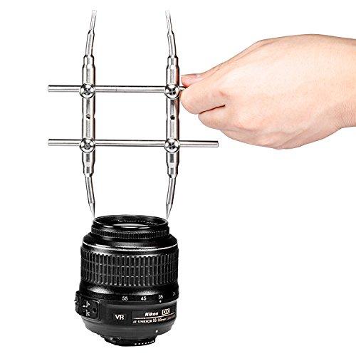 NEEWER プロ 曲がったヒント DSLRカメラレンズスパナ/レンチ 修理ツール ステンレス鋼製 ほぼすべてのカメラ 対応