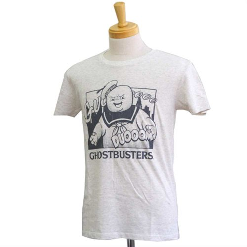 GHOST BUSTERS   T-SHIRTS  MARSHMALLOW MAN OATMEAL ゴーストバスターズ Tシャツ マシュマロマン オートミール