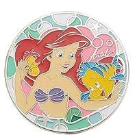 ディズニーストア ミラー・鏡 ケース付き アリエル&フランダー ステンドグラス風 Disney(ディズニー)