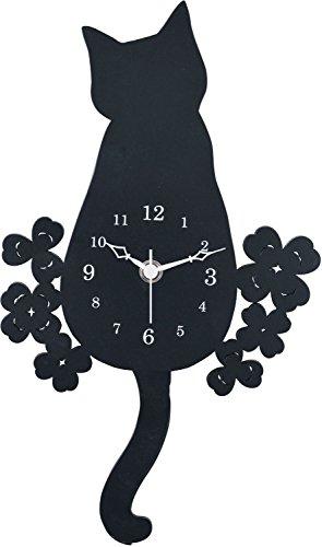 ヂャンティ商会 振り子時計 黒猫 G-1175BK