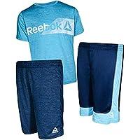 Reebok Boys' 3 Piece Performance Sports T-Shirt and Short Set