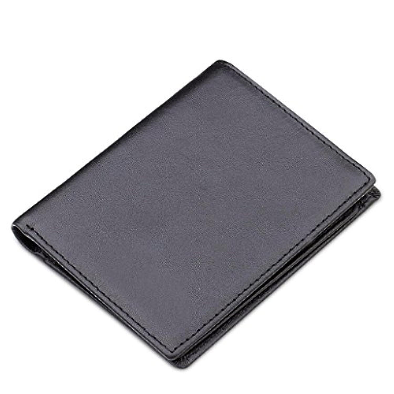 ZLR 多機能超薄型レザーソフトレザー財布牛革ビジネスウォレット