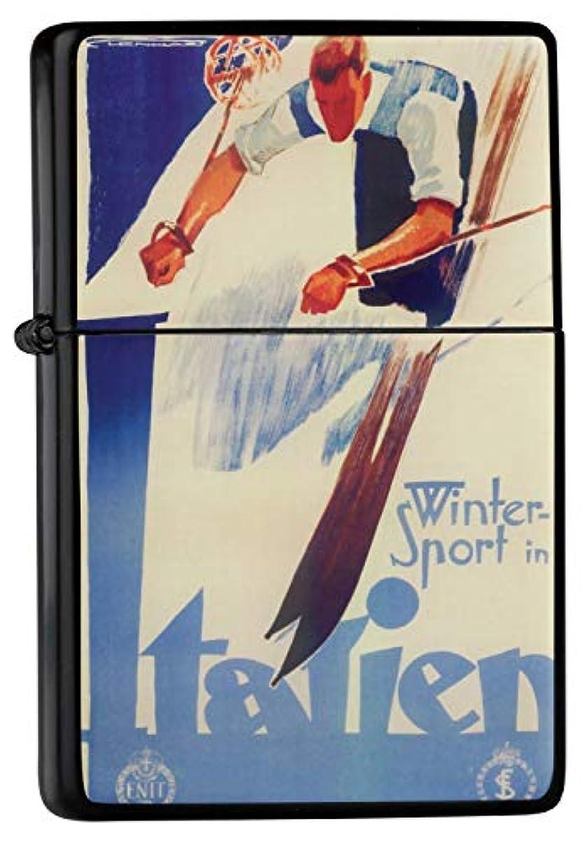 気になる銃に応じてPocket Vintage Windproof lighter ライター Brushed Oil Refillable Winter Sport Italy