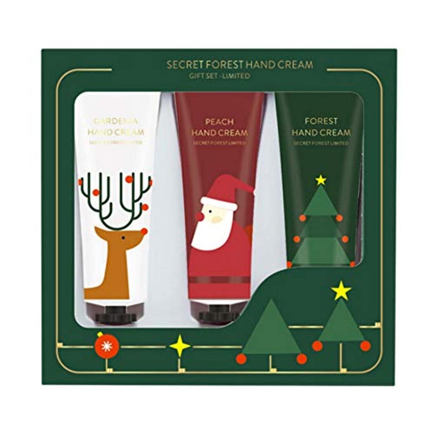 深さきらめき集団Alluole 3ピースクリスマスハンドクリームセットギフトボックスハンドケア保湿栄養肌